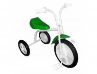 Велосипед трехколесный с декоративной фарой и обновленным протектором, цвет синий, в/к\