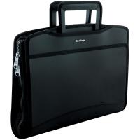 """Папка-портфель  8 отделений Berlingo """"Silk Touch"""", A4, 380*280*45мм, 700мкм, черная"""