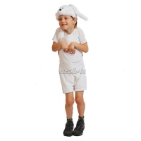 "Костюм ""Зайчик белый"" ткань-плюш"