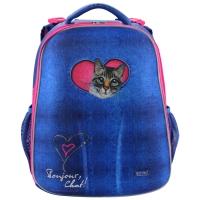 Рюкзак школьный Mike&Mar (Майк Мар) Кошка, джинс.