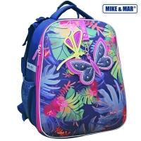 Рюкзак школьный Mike&Mar (Майк Мар) Тропики синий/мультицвет