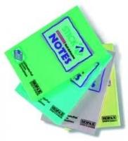 Самоклеющийся блок 100листов, 050х076мм, цвет зеленый (21147) (Hopax)