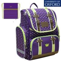 Рюкзак школьный OXFORD (Оксфорд) фиол/зелен+ мешок
