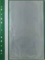 Папка-скоросшиватель с вкладышами/10 и перфорацией Бюрократ А4  (PS10) зеленый