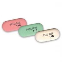 Ластик Milan мягкий овальный цветной средний, из каучука, размер 62х28х8мм