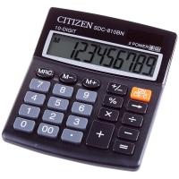 Калькулятор настольный SDC-810BN 10 разрядов, двойное питание, 102*124*25 мм, черный