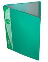 Папка пластиковая с файлами А4 030вкл, Бюрократ зеленая (BPV30grn)
