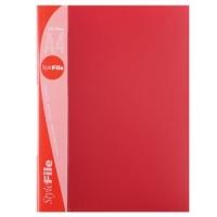 Папка пластиковая с файлами А4 030вкл, Бюрократ красная (BPV30red)