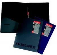 Папка пластиковая скоросшиватель EK Megapolis + карман А4 черный
