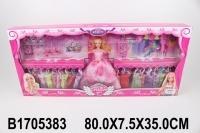 Кукла с платьями, аксессуарами, украшениями, в/к 80*7,5*35 см
