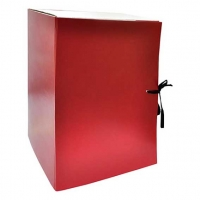 Папка архивная 20см разборная красная
