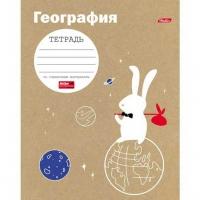 """Тетрадь предм. 48л. ХАТ """"Белый кролик-География""""  справ. инф. (клетка)"""