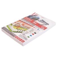 Обложка д/брош. картон кожа  А4 230г/м2 белые (100) 8250