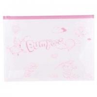 """Папка-конверт на молнии А4 DELI Zip """"Bumpees"""" 0,18мм  EZ70102 ПВХ"""