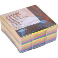 Блок д/записей 90*90мм deVENTE 400л.,5неон.цв.,в прозр.пластик.подставке