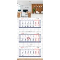 "Календарь квартальный 3 бл. на 3 гр. OfficeSpace Mini Premium ""Office"", 2022г."