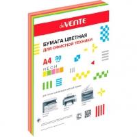 Бумага А4 д/офисной техники deVENTE  250л. неон цвета 5цв.