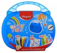 Набор для рисования MAPED Color`Peps Jumbo (10 фломастеров,12мелков,раскраска)