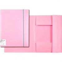 "Папка на резинке А4 ""Pastel"" 450мкм  розовая непрозр.,фактура ""песок"",вертик.резинка"