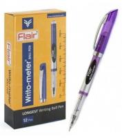 """Ручка шар. """"Flair"""" WRITO-METR F-743 пластик синяя, 0,5мм"""