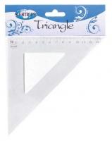 Треугольник 13см CENTRUMпластик.,прозр.,45*45*90