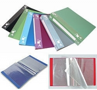 Папка пластиковая с файлами А4 040вкл, Бюрократ ассорти  (BPV40grey) (25)