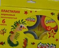 Пластилин шар.  6цв.*33гр. Каляка-Маляка   мелкозерн., к/к