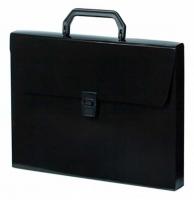 Портфель 1отд. БюрократDeLuxe DLPP01BL CK 0,7мм черный