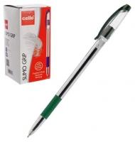Ручка масл. шар. Cello Slimo Grip зеленый 0,6мм, к/к