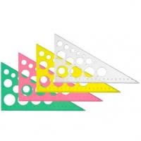 Треугольник СТАММ 30гр*19см  с окружн.,Neon Cristal,отливная шкала,