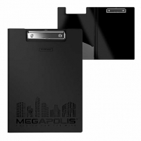 Папка-клипборд А4 EK MEGAPOLIS  черная,пластик.