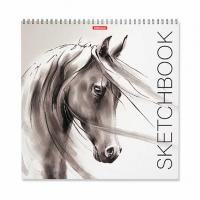 """Альбом для эскизов 40л. 297*297мм EK спираль """"Wild Horse""""  (скетчбук)"""