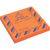Кл.бумага д/заметок 76*76мм  100л.  неоновая оранжевая