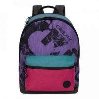 Рюкзак (/2 лаванда - зеленый - фуксия)(RX-022-1)