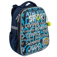 Рюкзак школьный Mike&Mar (Майк Мар) Спорт синий / т.серый
