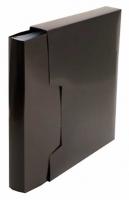 Папка с вкладышами/100 Бюрократ А4 DeLuxe DLVBOX100BLCK(1139845) 0,7мм,чёрный,в футляре