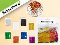 Набор цветных блесток в пакетиках по 5г., 10цв.
