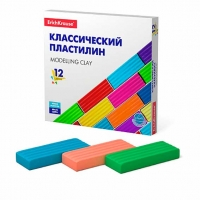 "Пластилин 12цв.,192гр.EK ""Basic"" к/к"