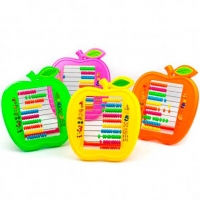 """Счеты детские ALINGAR """"Яблоко""""  пластик.,10 десятков,пакет е/подвес,асс."""