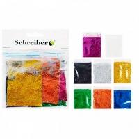 Набор цветных блесток в пакетиках по 5г., 8цв.