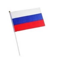 """Флаг """"Россия"""" 14*21см на флагштоке"""