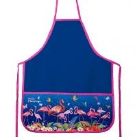 """Фартук 3кармана """"Flamingo"""" 45*54см тёмн.-синий,водооттал.ткань"""