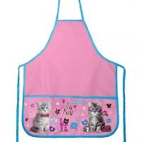 """Фартук 3кармана deVENTE """"Purr Meow"""" 45*54см  розовый,водооттал.ткань"""
