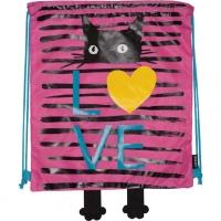 "Сумка д/обуви  35*40см ""Cat LOVE"" водоотталк.,фетр.элем.,с фиксатор."
