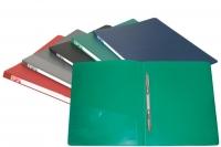Папка пластиковая скоросшиватель Бюрократ + карман А4 0,7мм, синяя (PZ07Pblu) (Бюрократ)