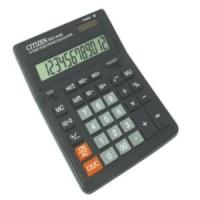 Калькулятор настольный Citizen , 12 разрядов, двойное питание, 153*199*31мм, черный