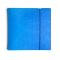 Тетрадь А5, 120л, клетка, кольца, обложка пластик, резинка, офсет, WOOD голубая (Хатбер-М)