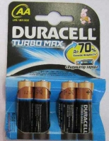 Батарейка Duracell LR6 Turbo 1500  К4