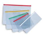 Папка пластиковая на молнии В6 (128х182мм), прозрачная, цвет ассорти (Erich Krause)