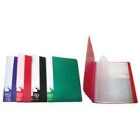 Папка пластиковая с файлами А4 020вкл, Бюрократ ассорти, 0.6мм (BPV20)(Бюрократ)